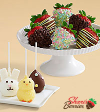 3 Easter Brownie Pops & Half Dozen Easter Strawberries