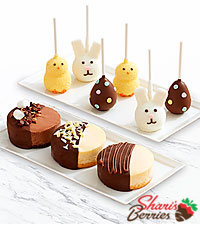 Dipped Cheesecake Trio & 6 Easter Brownie Pops