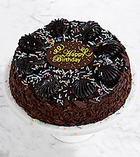 Birthday Chocolate Mousse Torte with Happy Birthday Plaque