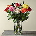 1 Dozen Long Stem Mixed Roses