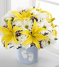 The Sweet Dreams® Bouquet by FTD® - Boy - VASE INCLUDED