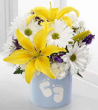 The Sweet Dreams&reg; Bouquet by FTD&reg; - Boy - VASE INCLUDED