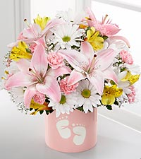 The Sweet Dreams® Bouquet by FTD® - Girl - VASE INCLUDED