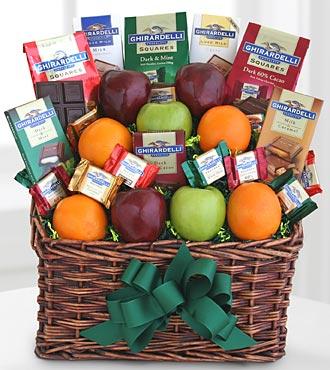 Ghirardelli Chocolate & Fruit Gourmet Gift Basket