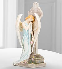 Galleria Divina™ Angel Figurine with Celtic Cross