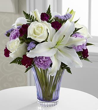 The Thinking of You Bouquet by FTD - CUT GLASS VASE INCLUDED