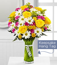 The FTD ® Thanks Bouquet- VASE INCLUDED