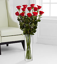 The Ultimate Rose Bouquet - 12 Stems, 3 Foot Roses - VASE INCLUDED