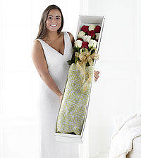Christmas Wonders Ultimate Rose Bouquet - 12 Stems, 3-Foot Roses - NO VASE