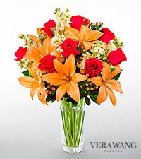 The FTD ® Luxe Looks™ Bouquet by Vera Wang - CUT GLASS VASE INCLUDED