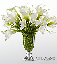 The FTD&reg; Musings&trade; Luxury Calla Lily Bouquet by Vera Wang - 50 Stems - VASE INCLUDED