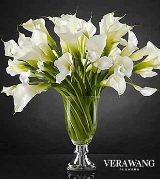 The FTD® Musings™ Luxury Calla Lily Bouquet by Vera Wang - 50 Stems - VASE INCLUDED