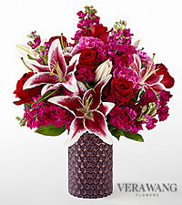 The FTD ® Vibrant Fuchsia™ Bouquet by Vera Wang- VASE INCLUDED