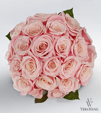 Vera Wang Pink Rose Bouquet - 24 Stems Premium Roses, No Vase