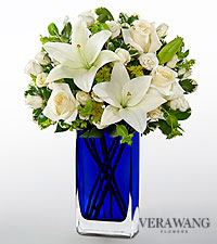 Vera Wang Endless Blue Fashion Bouquet - VASE INCLUDED