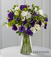 Vera Wang Vintage in Violet Fashion Bouquet - VASE INCLUDED