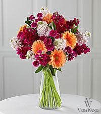 Vera Wang Color Crescendo Fashion Bouquet - VASE INCLUDED