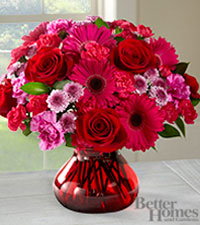 The FTD ® Make Me Blush Bouquet by Better Homes and Gardens ® - VASE INCLUDED