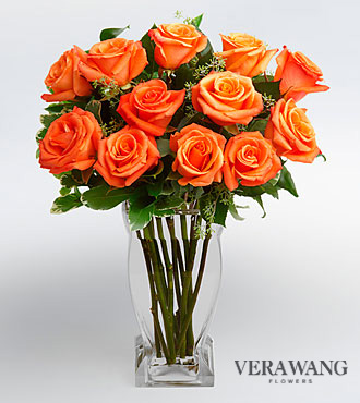 Vera Wang Orange Rose Bouquet
