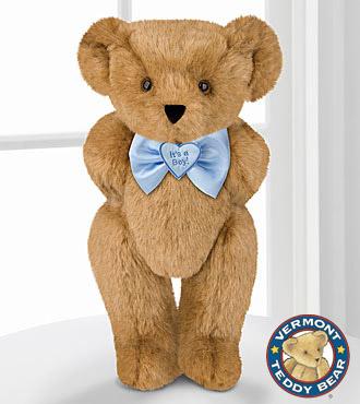 Vermont Teddy Bear 15-inch Its a Boy! Bowtie Bear