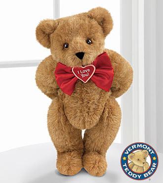 Vermont Teddy Bear 15-inch I Love You Bowtie Teddy Bear