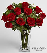 Vera Wang Premium 20-inch Long Stem Red Rose Bouquet