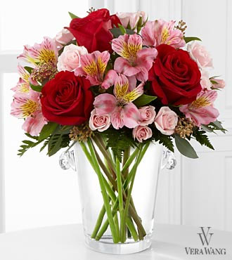 The FTD&reg; Graceful Wishes&trade; Bouquet by Vera Wang - VASE INCLUDED