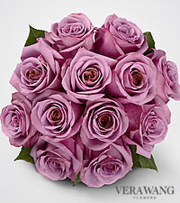 Vera Wang Lavender Rose Bouquet - 12 Stems - 12 Stems, No Vase