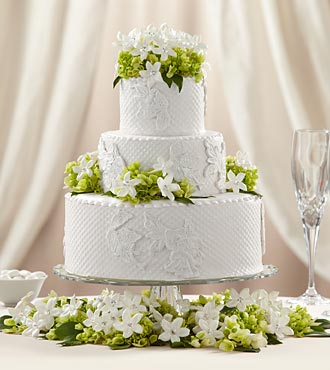 The FTD&reg; Bloom & Blossom&trade; Cake D&eacute;cor