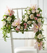 The FTD ® Orchid Rose™ Chair Décor