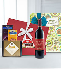 Birthday Cheers Gourmet Wine Gift