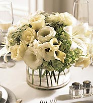 The FTD ® White Linen™ Centerpiece