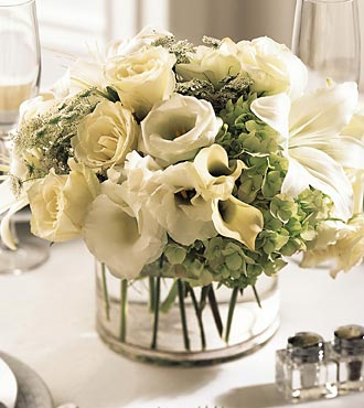 The FTD&reg; White Linen&trade; Centerpiece
