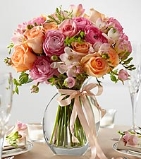 The FTD ® Peach Silk™ Fresh Arrangement