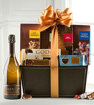 Holiday Wine and Godiva Basket