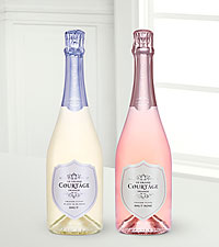 Le Grand Courtage Rose And Blanc de Blancs Brut Duo