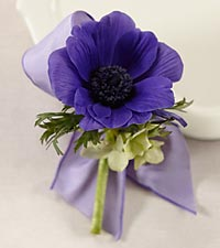 The FTD ® Purple Passion™ Boutonniere