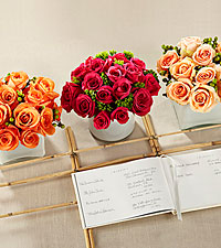 The FTD ® Dawn Rose™ Centerpiece
