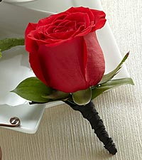 The FTD ® Red Rose Boutonniere