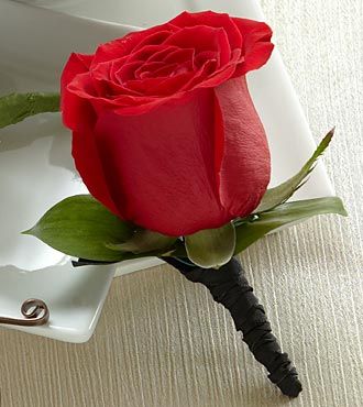 The FTD&reg; Red Rose Boutonniere