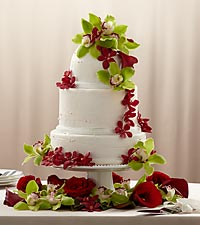 The FTD&reg; Elegant Orchid Cake D&eacute;cor