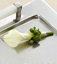 The FTD&reg; White Calla Boutonniere