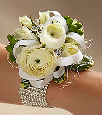 White Wedding Corsage