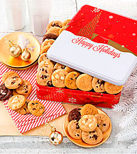 Mrs. Fields ® Holiday Cookie Tin - 60 Nibblers