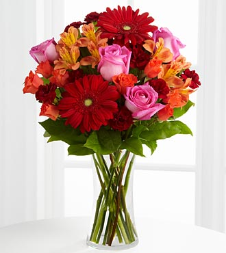 The FTD® Dawning Love™ Bouquet with Vase