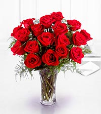 The FTD ® Premium 18 Long Stemmed Red Roses Bouquet