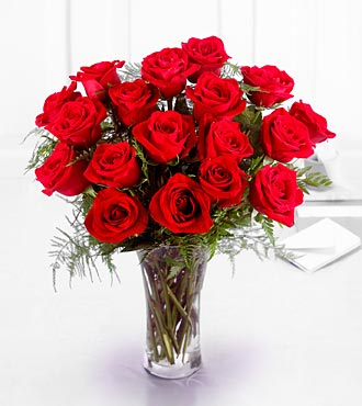 The FTD&reg; Premium 18 Long Stemmed Red Roses Bouquet