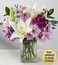 Lavender Fields Mixed Flower Bouquet - VASE INCLUDED