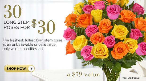 roses for $30