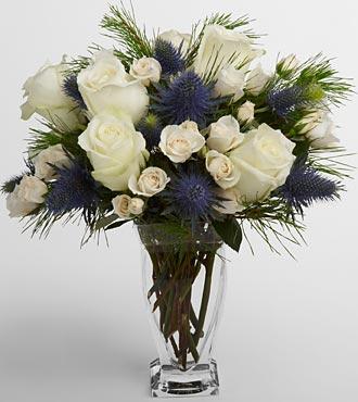 Vera Wang Winter Wonderland Bouquet - VASE INCLUDED